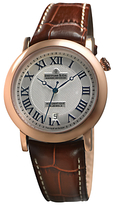 Dreyfuss & Co Dgs00031/21 1925 Date Leather Strap Watch, Brown/silver