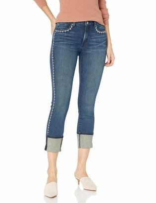 NYDJ Women's Petite Size Novelty Alina Wide Cuff Skinny Ankle Jeans