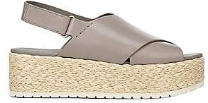 Vince Women's Jesson Platform Espadrille Leather Slingback Sandals