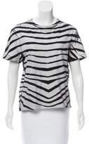 Pierre Balmain Striped Short Sleeve T-Shirt