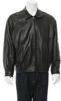 Salvatore Ferragamo Leather Striped-Lined Jacket