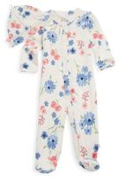 Offspring Two-Piece Floral Cotton Footie & Hat Set