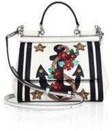 Dolce & Gabbana Sicily Anchor Leather Top Handle Satchel