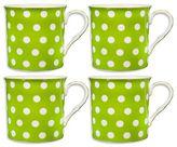 Home Essentials 4-pc. Green Polka-Dot Mug Set