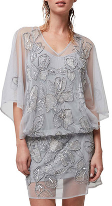 As By Df Athena Sheer Beaded Dress