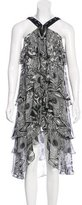 Thomas Wylde Tiered Silk Dress