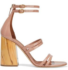 Malone Souliers Elyse Buckle-detailed Patent-leather Sandals