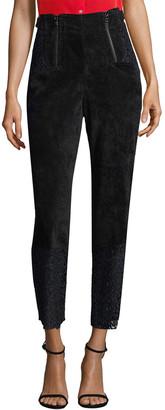 Marissa Webb Velvet & Lace Crop Trouser