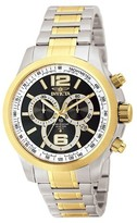 Invicta Men's 0080 Specialty Quartz Chronograph Black Dial Link Watch - Black