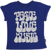 Rock Your Baby Tots Boys Peace Tee Blue