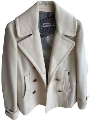 Gas Jeans White Cotton Coat for Women