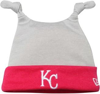 New Era Newborn Gray/Pink Kansas City Royals Shadow Tot Dub Cuffed Knit Hat