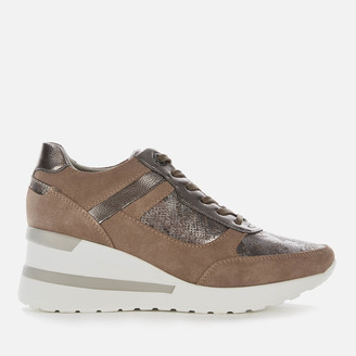 Dune Women's Elouera Wedged Trainers - Taupe