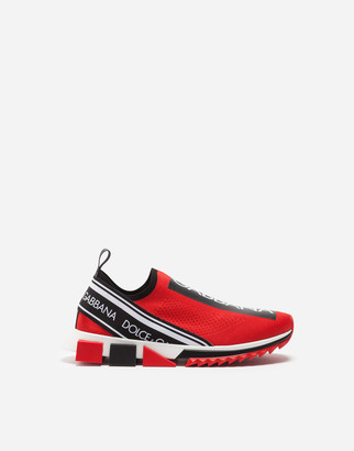 Dolce & Gabbana Stretch Mesh Sorrento Sneakers With Logo