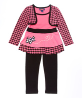 Pink Terrier Puppy Tunic & Leggings - Toddler & Girls