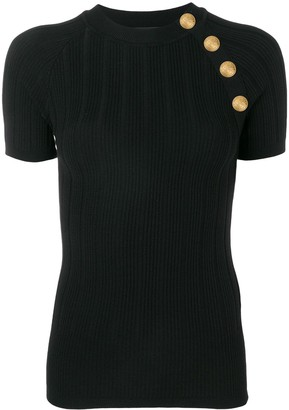 Balmain knitted T-shirt top