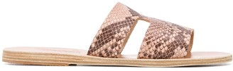 Ancient Greek Sandals Apteros snakeskin effect sandals