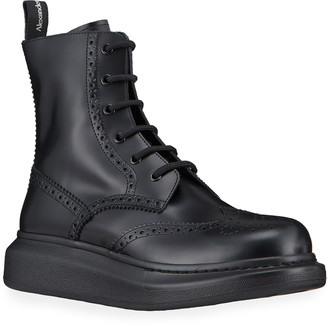 Alexander McQueen Men's Brogue Lace-Up Boot Sneakers
