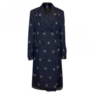 Calvin Klein Navy Cotton Coat for Women