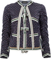 Undercover printed pussy-bow shirt - women - Silk/Cotton - 1