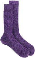 DSQUARED2 metallic thread socks - men - Polyamide/Polyester/Spandex/Elastane/Viscose - M