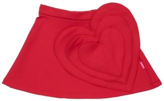 Simonetta Jersey Stretch Skirt W/ Heart Patch