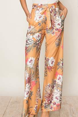 Hyfve Tropical Print Wide Leg Pants