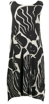 Issey Miyake Macro-Print Dress