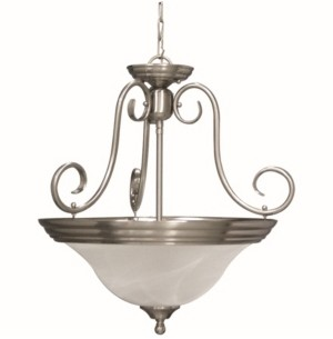 Volume Lighting Troy 3-Light Convertible Hanging Pendant