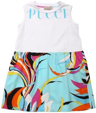 Emilio Pucci Printed Cotton Jersey Dress
