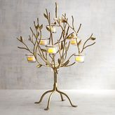 Pier 1 Imports Gold Metal Tree Tealight Candle Holder