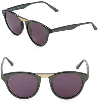 Smoke X Mirrors Black Betty 48MM Round Cat-Eye Sunglasses