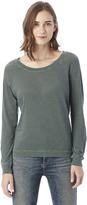 Alternative Slouchy Washed Slub Pullover Sweatshirt