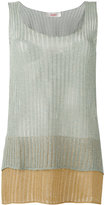 Jucca layered semi-sheer tank - women - Polyester/Viscose/Metallized Polyester - XS