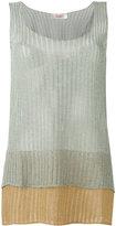Jucca layered semi-sheer tank - women - Viscose/Polyester/Metallized Polyester - XS