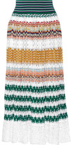 Missoni Crochet-knit Midi Skirt - Saffron