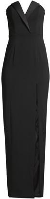 Jay Godfrey Sylvia Tuxedo Lapel Column Dress