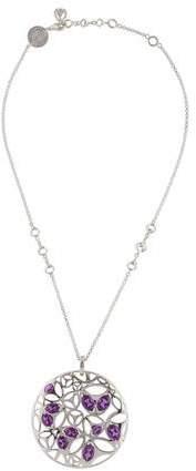 Di Modolo Amethyst Medallion Pendant Necklace