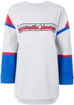 Moschino Transformer logo sweater dress - women - Cotton/other fibers - XS