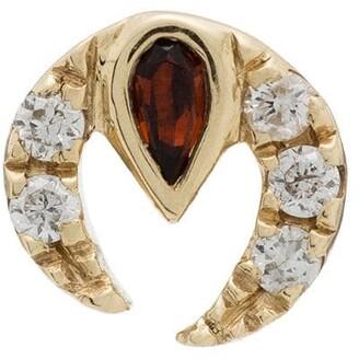 Anissa Kermiche 9K yellow gold ruby diamond earring