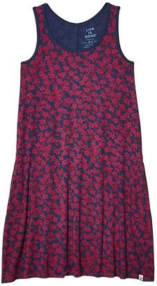 Life is Good Trapeze Pocket Dress (Darkest Blue) Women's Dress