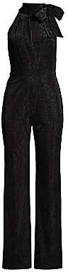 Black Halo Women's Audrey Striped Velvet Jumpsuit