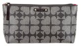 Kate Spade Shiloh Pebbled Ace Of Spades Cosmetic Bag