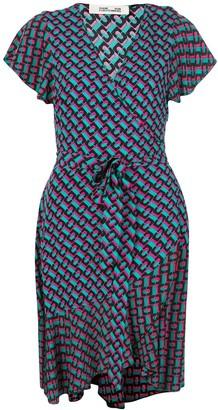 Dvf Diane Von Furstenberg Avaya ruffled wrap dress