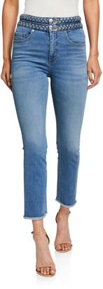 Veronica Beard Carly Braided Kick Flare Jeans