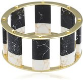 Lele Sadoughi 14ct Gold Plated Brass Tall Stackable 7 1/4 Inch Bangle of 25mm