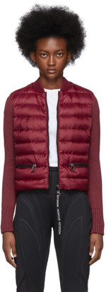 Moncler Red Down Knit Jacket