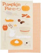 Now Designs Pumpkin Pie Teatowel, Set of 2