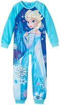 Disney Disney's Frozen Elsa Girls 4-10 One-Piece Pajamas