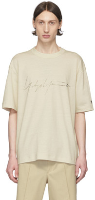 Y-3 Off-White Distressed Signature T-Shirt